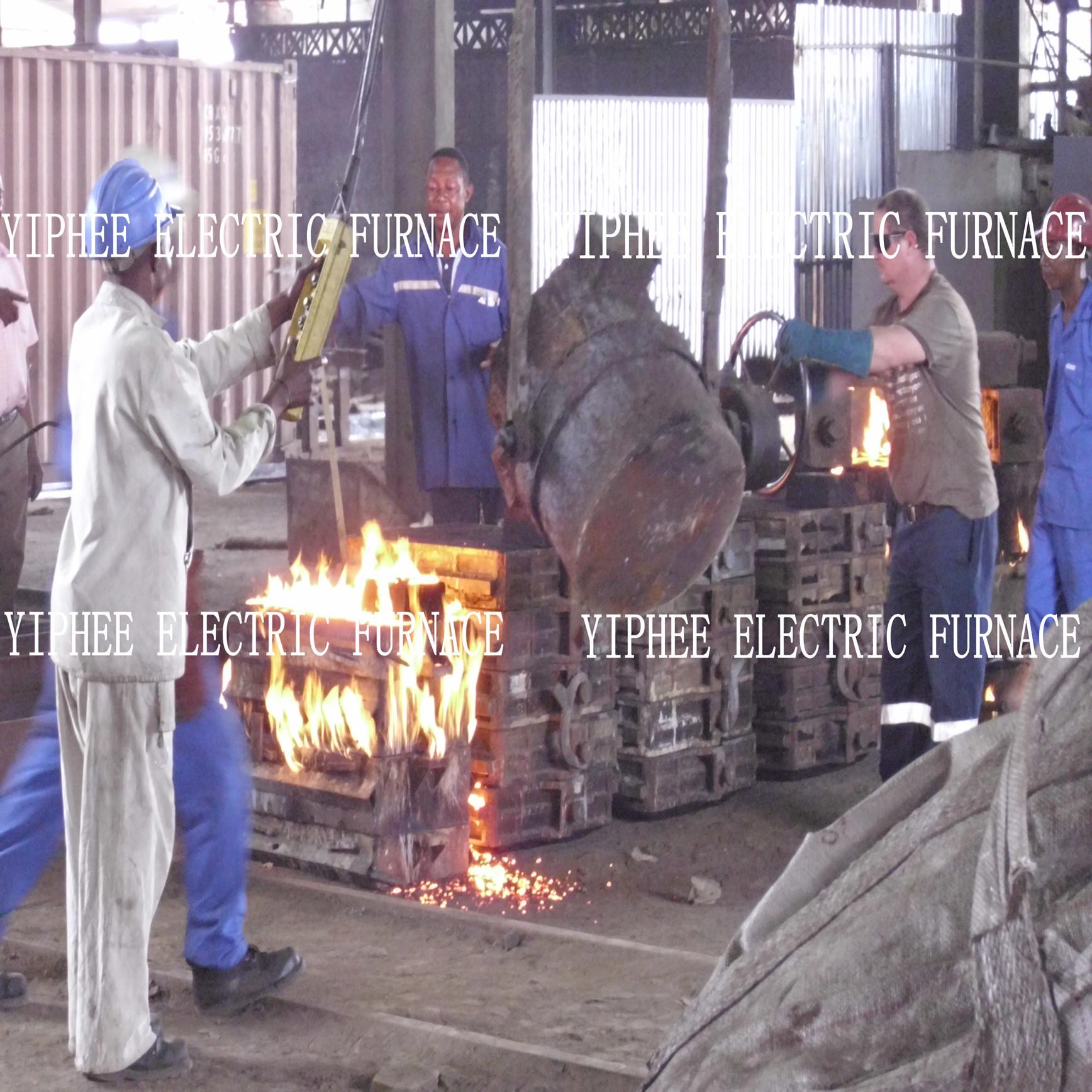 2012年刚果卢本巴希别墅中频炉使用现场御园华府洋房客户图片